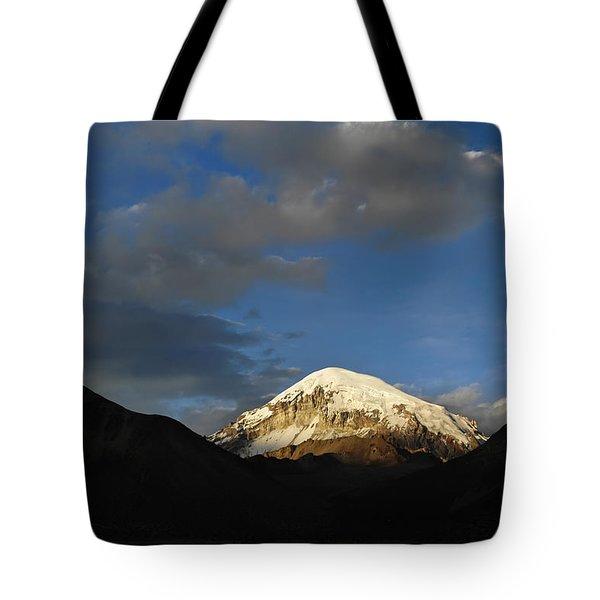 Nevado Sajama At Sunset. Republic Of Bolivia.  Tote Bag by Eric Bauer