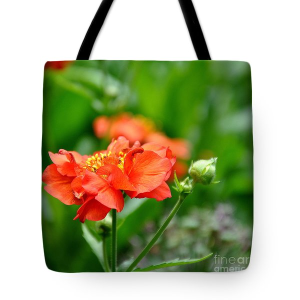 Never Boring Red And Green Tote Bag by Tanya  Searcy