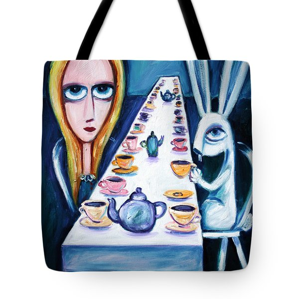 Never Ending Tea Party Tote Bag by Leanne Wilkes