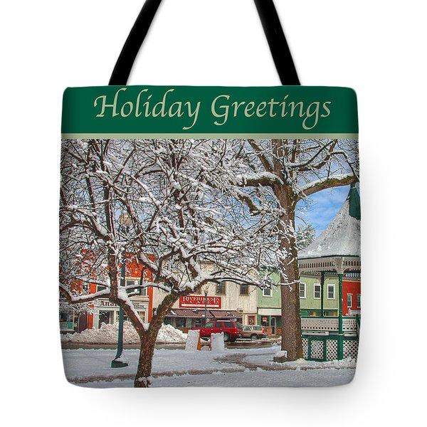 New England Christmas Tote Bag by Joann Vitali