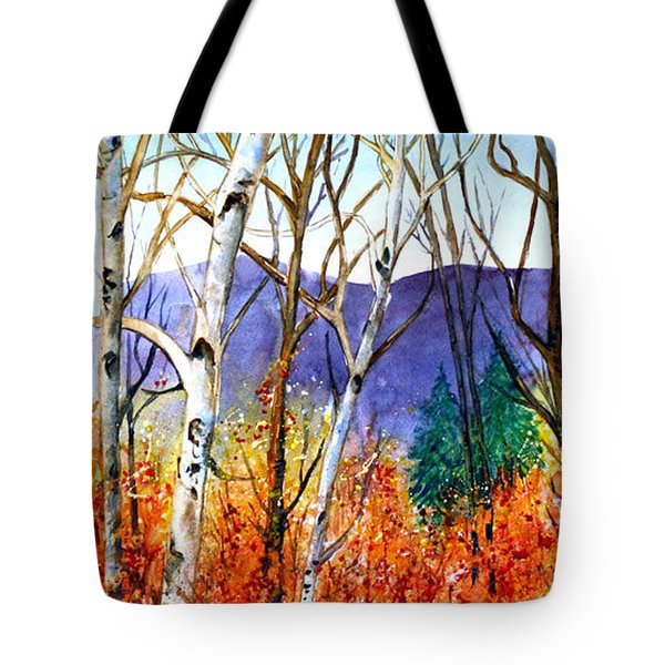 Tote Bag featuring the painting New England Fall by Priti Lathia