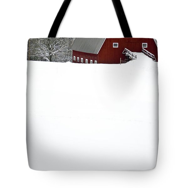 New England Winter Tote Bag by Edward Fielding