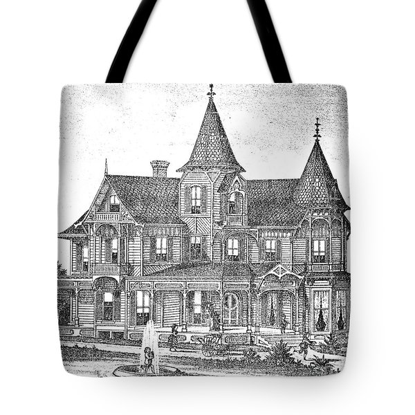 New Jersey: Atwood House Tote Bag by Granger