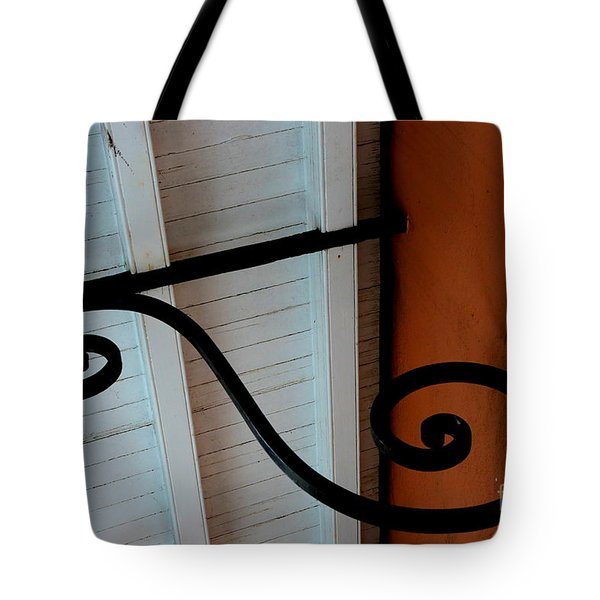 New Oleans White And Orange Tote Bag by Carol Groenen