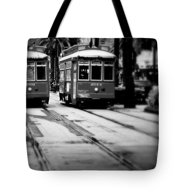 New Orleans Classic Streetcars. Tote Bag by Perry Webster