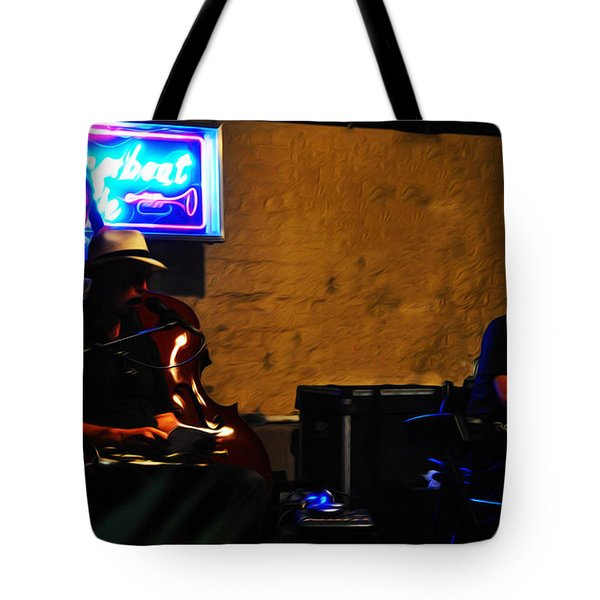 New Orleans Jazz Band Tote Bag by Bill Cannon