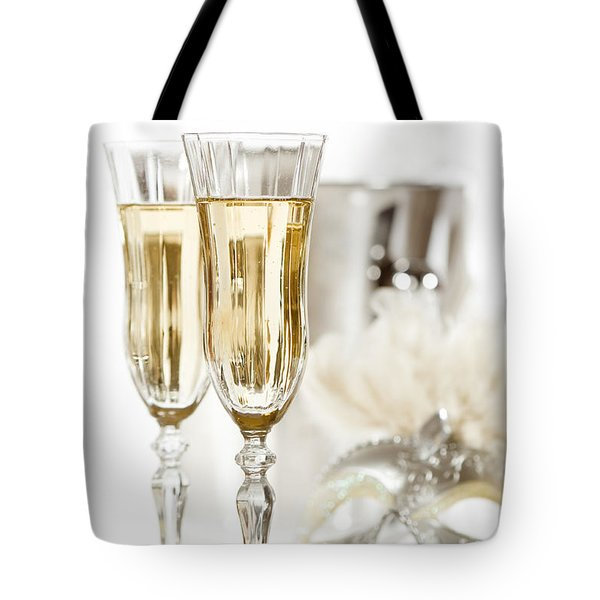 New Year Champagne Tote Bag by Amanda Elwell
