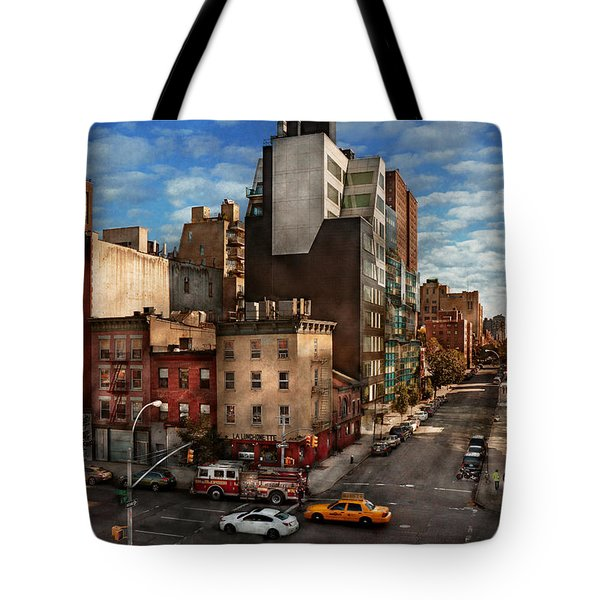 New York - City - Greenwich Village - The Corner Of 10th Ave And W 18th St  Tote Bag