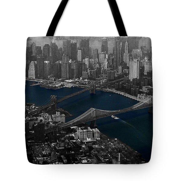New York Aerial Tote Bag by Ms Judi