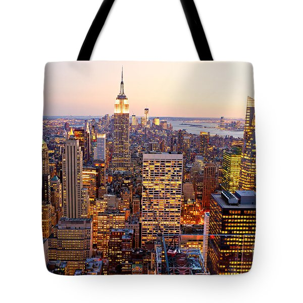 Tote Bag featuring the photograph New York City by Luciano Mortula