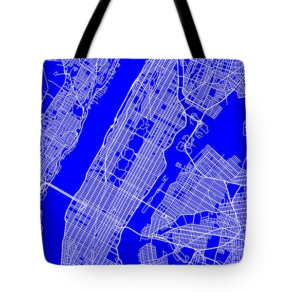 New York City Map Streets Art Print   Tote Bag