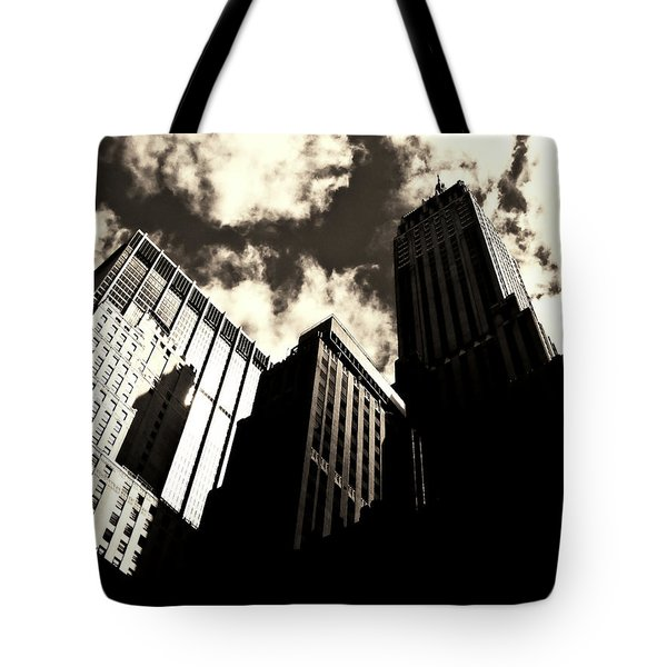 New York City Skyscrapers Tote Bag by Vivienne Gucwa