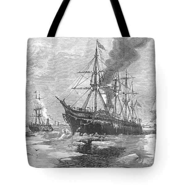 New York Harbor: Ice, 1881 Tote Bag by Granger