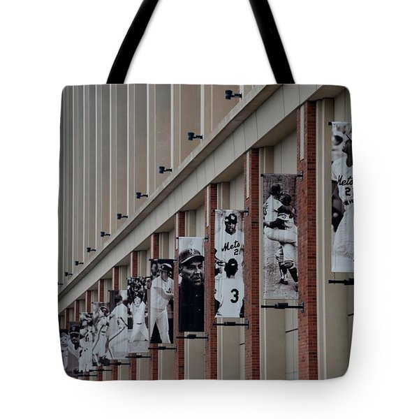 New York Mets Of Old Tote Bag by Rob Hans