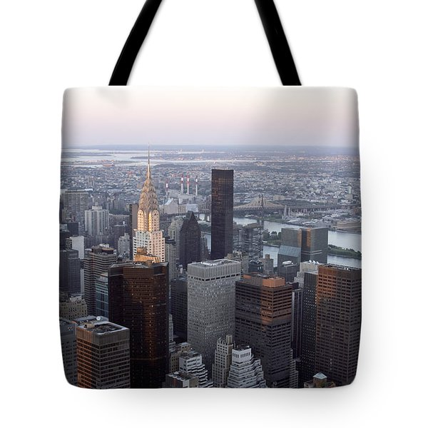 Tote Bag featuring the photograph New York by Milena Boeva
