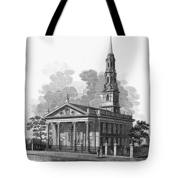 New York: St Pauls Church Tote Bag by Granger