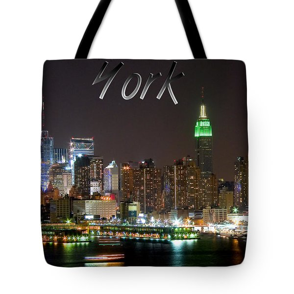 New York Tote Bag by Syed Aqueel
