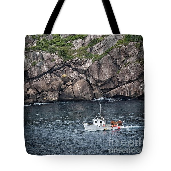 Tote Bag featuring the photograph Newfoundland Fishing Boat by Verena Matthew