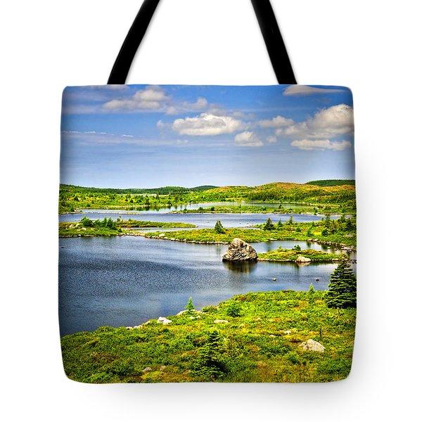 Newfoundland Landscape Tote Bag by Elena Elisseeva