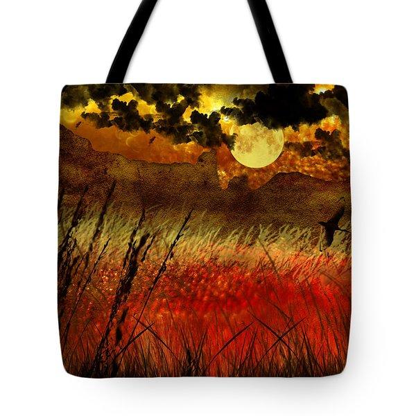 Night Falls Over The Land Tote Bag by Ellen Heaverlo