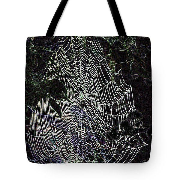 Tote Bag featuring the photograph Night Lines by EricaMaxine  Price
