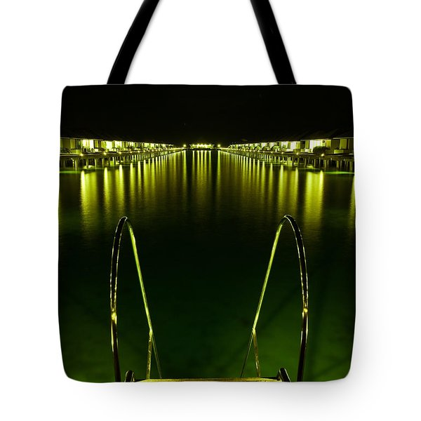 Night. One Day In Paradise. Maldives Tote Bag by Jenny Rainbow