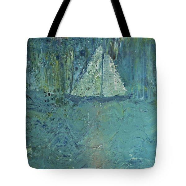 Night Sail Tote Bag by Wayne Potrafka