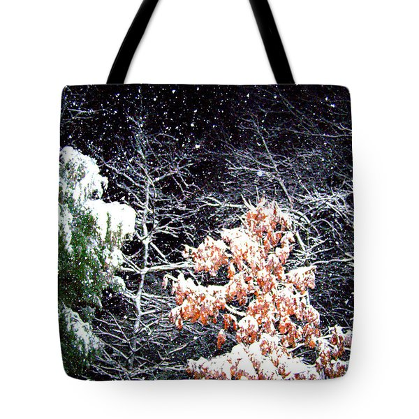 Night Snow 2 Tote Bag by Sandi OReilly