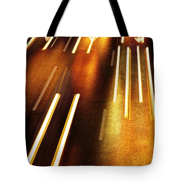 Night Traffic Tote Bag by Carlos Caetano