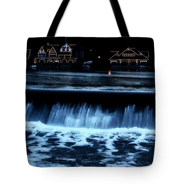 Nighttime At Boathouse Row Tote Bag by Bill Cannon