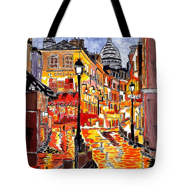 Nighttime In Paris Tote Bag
