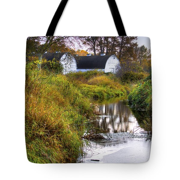 Nisqually Wildlife Refuge P21 The Twin Barns Tote Bag by David Patterson