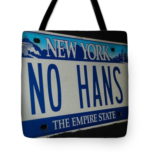 No Hans Tote Bag by Rob Hans