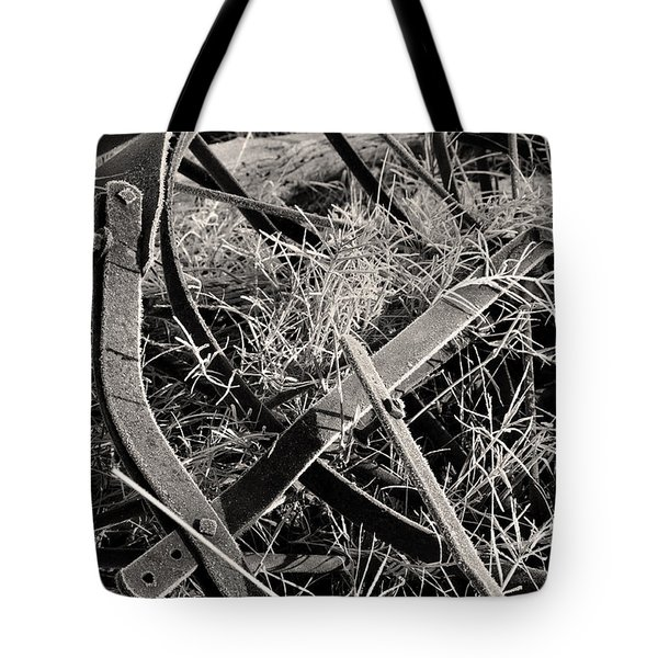 Tote Bag featuring the photograph No More Plowing by Ron Cline