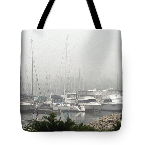 Tote Bag featuring the photograph No Sailing Today by Kay Novy