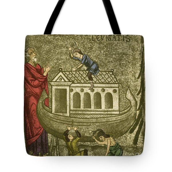 Noah Building The Ark Tote Bag by Photo Researchers