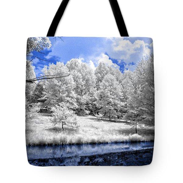 Nobob Pond Ir Tote Bag by Amber Flowers