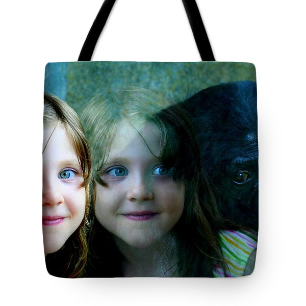 Tote Bag featuring the photograph Nora's Reflection by Laurel Talabere