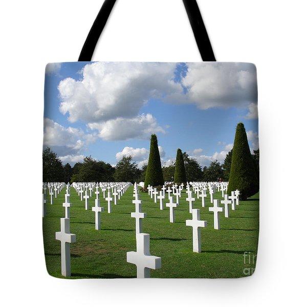 Normandy American Cemetery Tote Bag by Carol Groenen