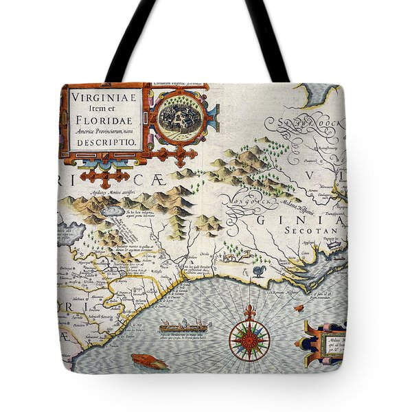 North Carolina Tote Bag by Jodocus Hondius