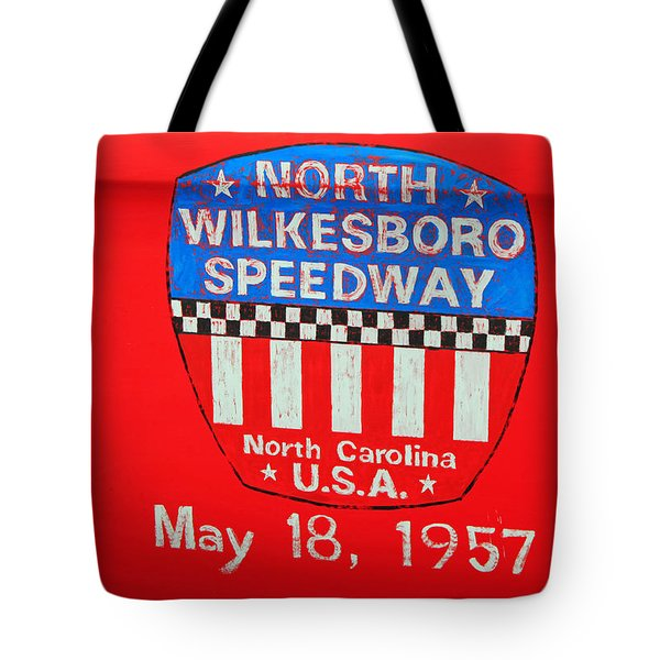 North Wilkesboro Speedway Tote Bag by Suzanne Gaff
