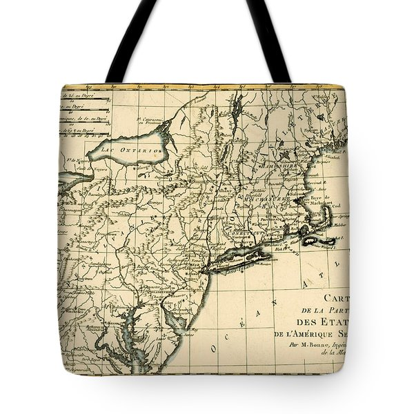 Northeast Coast Of America Tote Bag by Guillaume Raynal