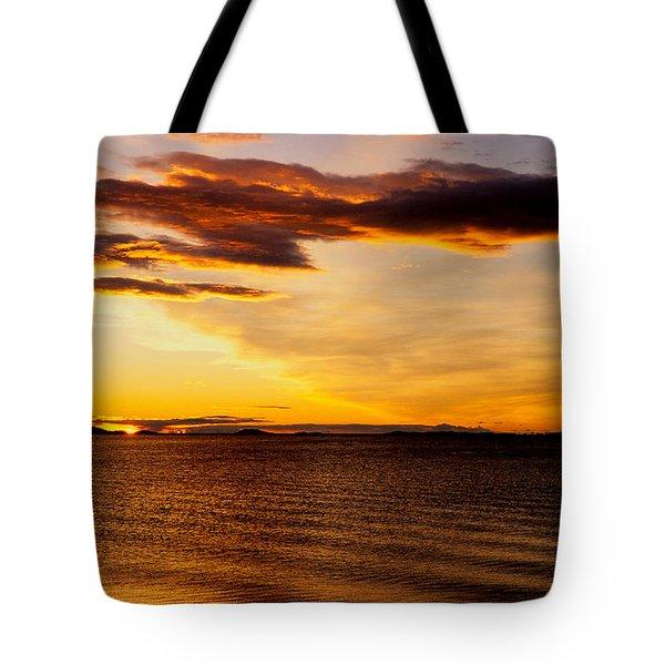 Northern Sunset Tote Bag by Hakon Soreide