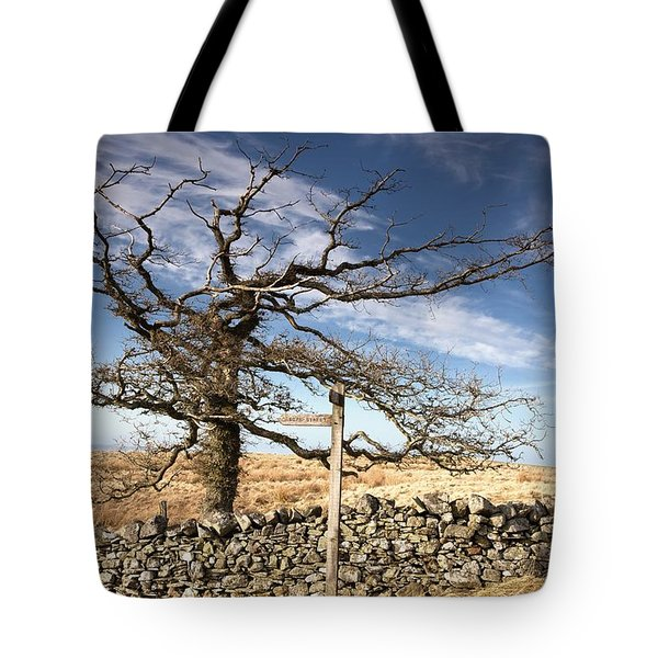 Northumberland, England A Leafless Tree Tote Bag by John Short