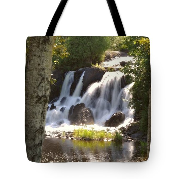 Northwoods Falls Tote Bag by Marty Koch