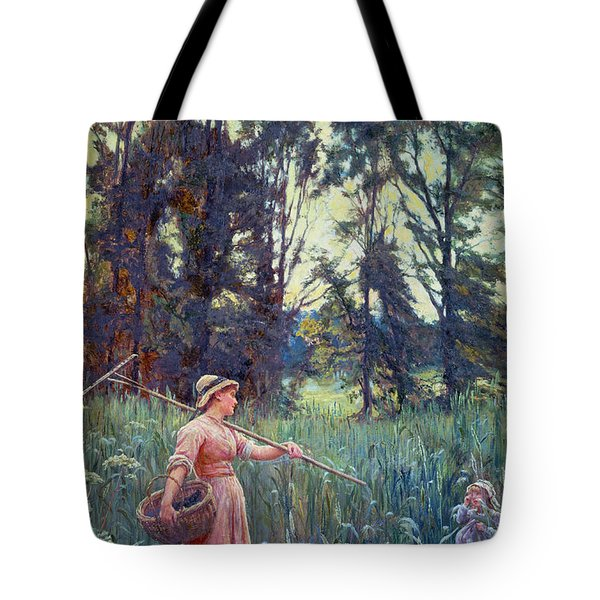 Not Far To Go Tote Bag by Frederick Morgan