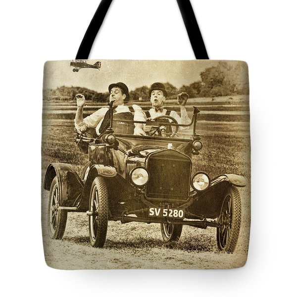 Not Likely Laurel And Hardly Hardy Tote Bag