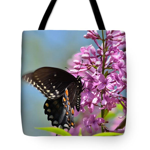 Nothing Says Spring Like Butterflies And Lilacs Tote Bag
