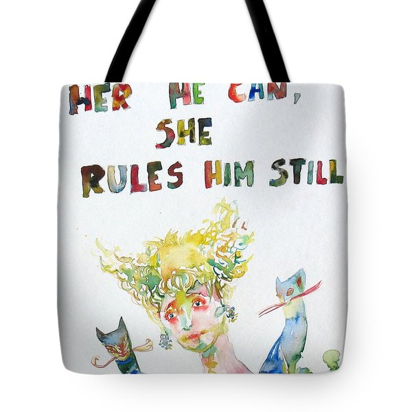 Nothing Without Her He Can She Rules Him Still Tote Bag by Fabrizio Cassetta