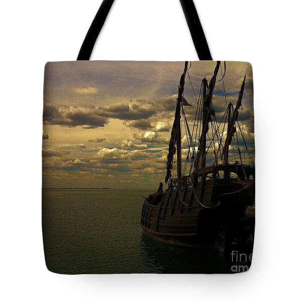Notorious The Pirate Ship Tote Bag